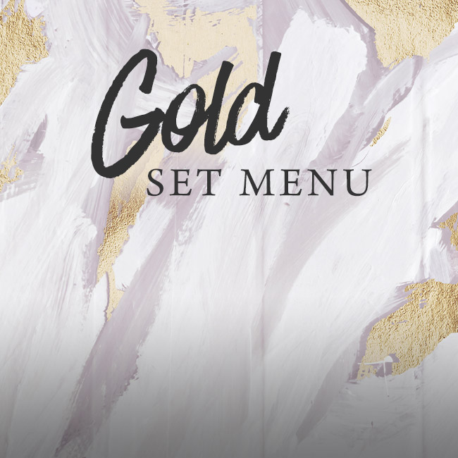 Gold set menu at The Crown