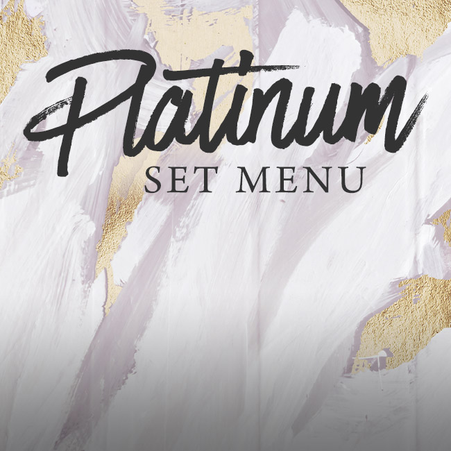 Platinum set menu at The Crown